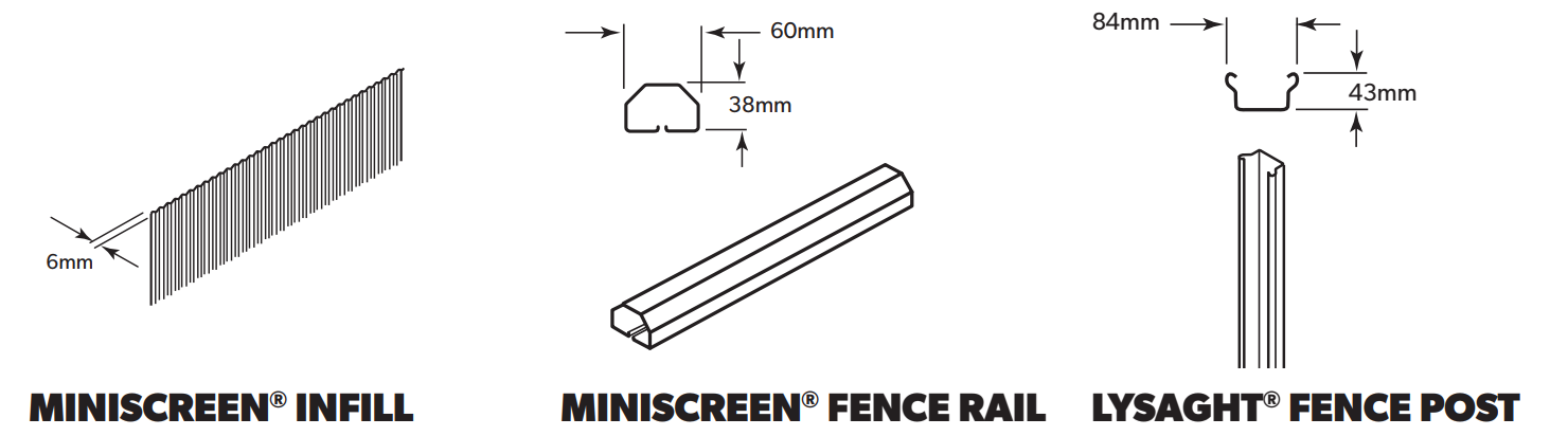 LYSAGHT MINISCREEN® Fencing