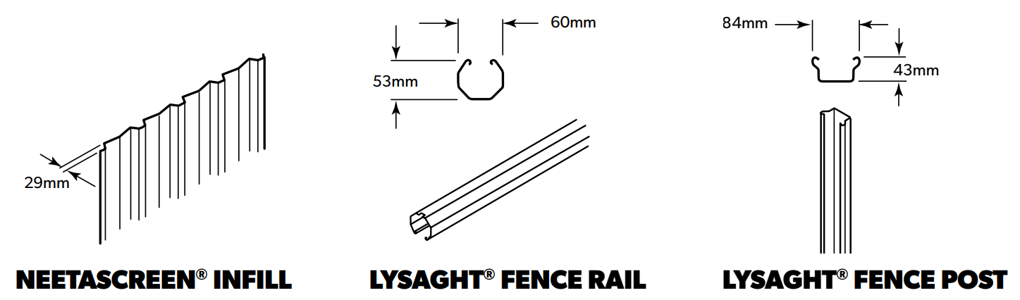LYSAGHT NEETASCREEN® Fencing