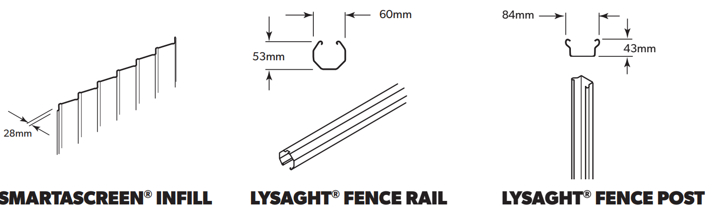 LYSAGHT SMARTASCREEN® Fencing