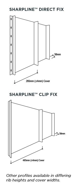 Stramit SharpLine® dimensions