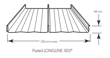 LYSAGHT LONGLINE 305® (fluted)
