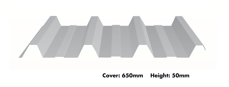 Metroll Hi-Deck 650® dimensions