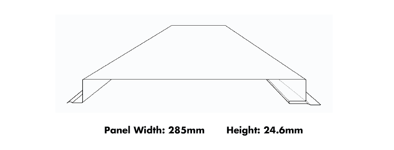 Metroll Interlocking Cladding Product Dimensions
