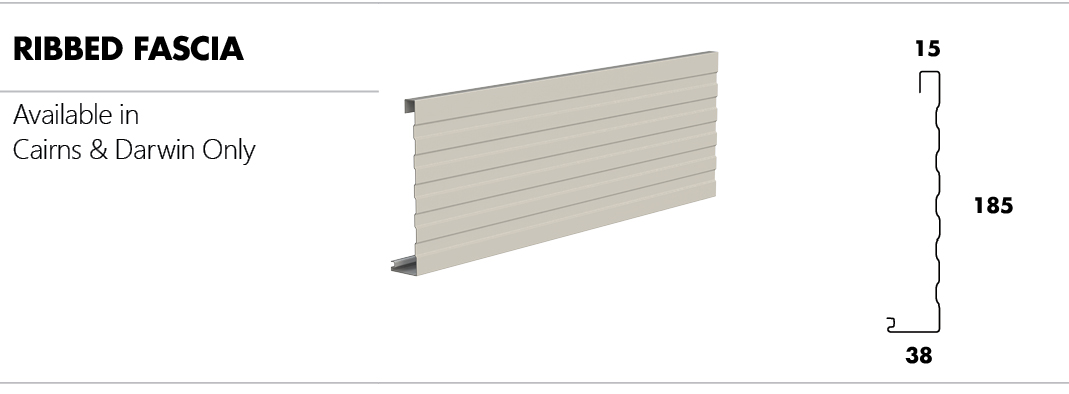Metroll Ribbed Fascia (Cairns & Darwin only)