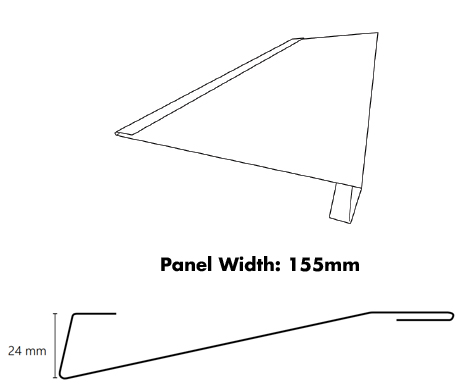 Metroll Metal Weatherboard Product dimensions